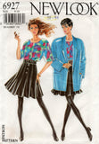 New Look 6927 Womens Pleated Skirt Top & Jacket 1980s Vintage Sewing Pattern Sizes 8 - 18 UNCUT Factory Folded