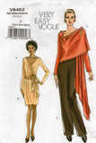 vogue 8463 oop jacket skirt pants