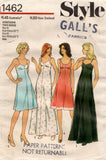 Style 1462 Womens High Waisted Full Slip Petticoats 1970s Vintage Sewing Pattern Size 16 or 18 & 20