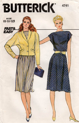 butterick 4741 80s dress