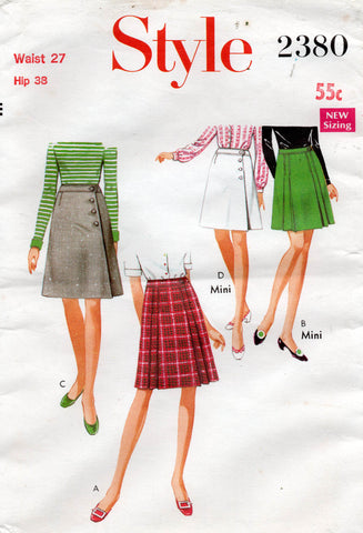 style 2380 60s skirts