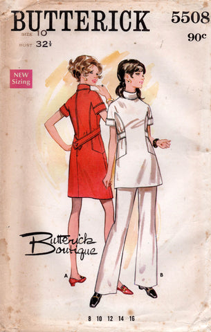 butterick 5508 60s dress top pants