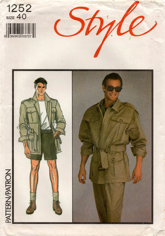style 1252 80s mens safari suit