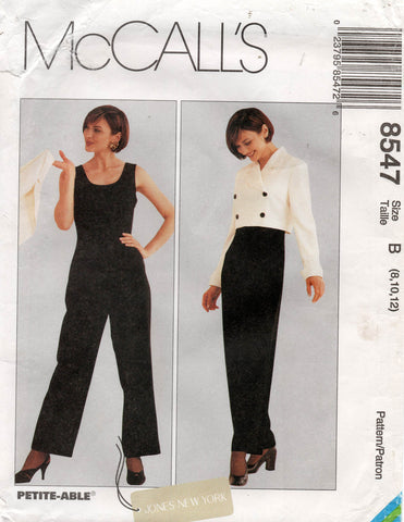 McCall's 8547 90s jumpsuit and jacket