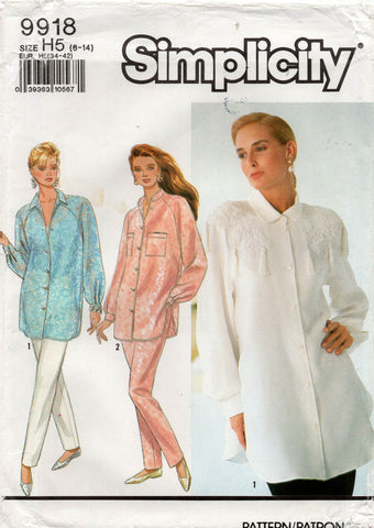 simplicity 9918 90s shirt and pants