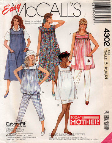 McCall's 4302 80s maternity wear