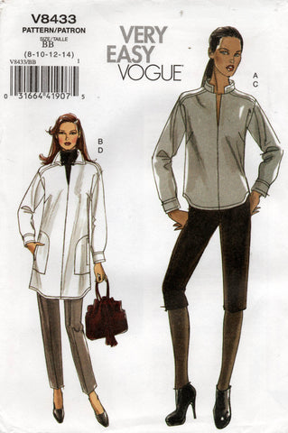 vogue V8433 oop tunic and pants
