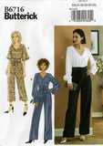 Butterick B6716 Womens Evening Jumpsuit & Sash Sewing Pattern Sizes 14 - 22 UNCUT Factory Folded