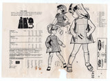 Mail Order 1430 Toddler Girls Mini Shift Dress 1960s Vintage Sewing Pattern Size 2 - 3 Years UNCUT Factory Folds
