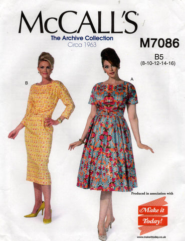 McCall's M7086 60s reissued dress