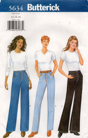 butterick 5634 90s jeans