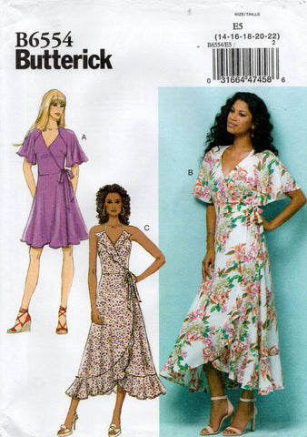 butterick B6554 wrap dress