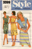 Style 3399 Womens Sundress & Cover Up 1980s Vintage Sewing Pattern Size 14 UNCUT Factory Folded