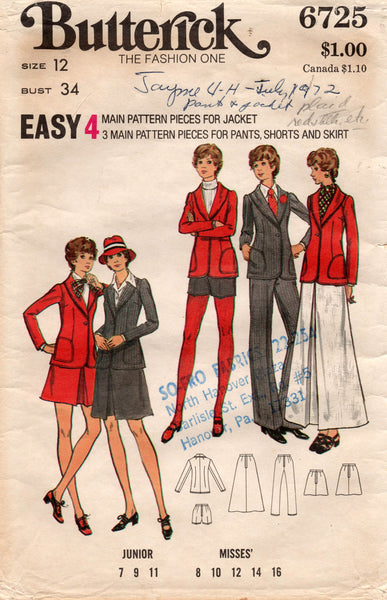 butterick 6725 70s suit