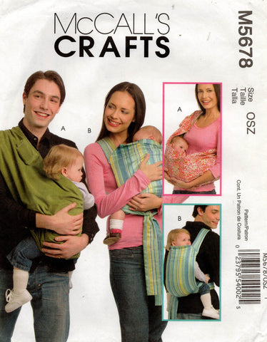 McCall's 5678 baby carrier