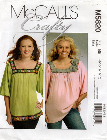 McCall's 5820 pullover tops