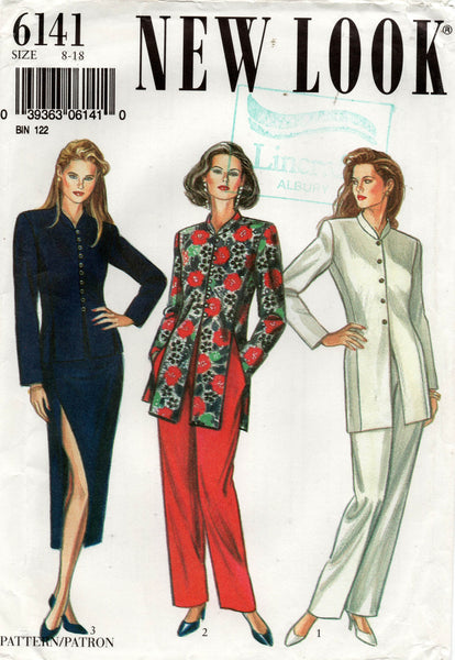 New Look 6141 Womens Jacket Skirt & Pants 1980s Vintage Sewing Pattern Sizes 8 - 18 UNCUT Factory Folded
