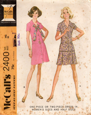 McCall's 2400 70s dress top skirt