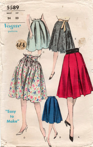 vogue 5589 60s skirts