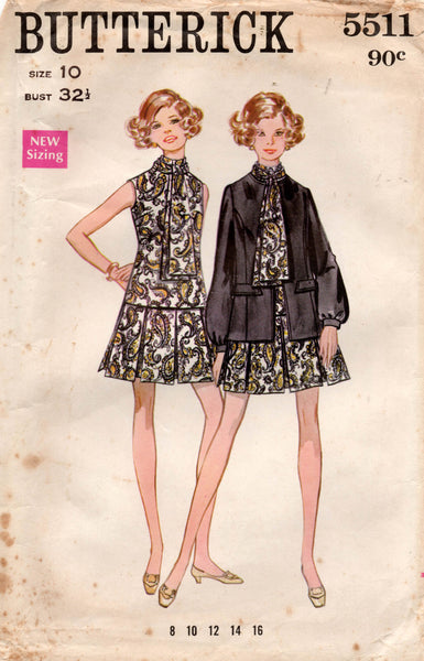 butterick 5511 60s dress and jacket