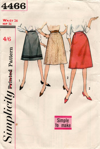 simplicity 4466 60s skirts