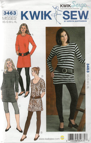 kwik sew 3463 leggings tunics
