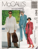 McCall's 9401 Womens Easy Shirt Skirt & Pants1990s Vintage Sewing Pattern Size LARGE 16 - 18 UNCUT Factory Folded