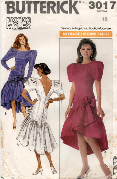 butterick 3017 80s dress