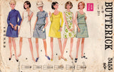 Butterick 5155 Womens EASY Shift Dress 1960s Vintage Sewing Pattern Size 8 Bust 31.5 inches UNCUT Factory Folded