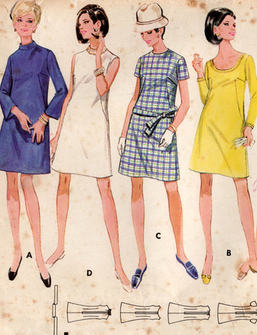 butterick 5155 60s dress