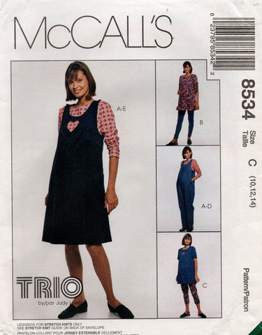 McCall's 8534 90s maternity wear
