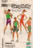 simplicity 8562 exercise wear