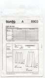 Burda Style 6903 Womens EASY Fluted Hem Skirts Sewing Pattern Sizes 8 - 24 UNCUT Factory Folded