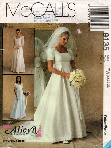 Mccall's 9135 90s wedding dress