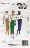 Kwik Sew 2279 Womens Slim Skirts 1990s Vintage Sewing Pattern Size XS - XL UNCUT Factory Folded