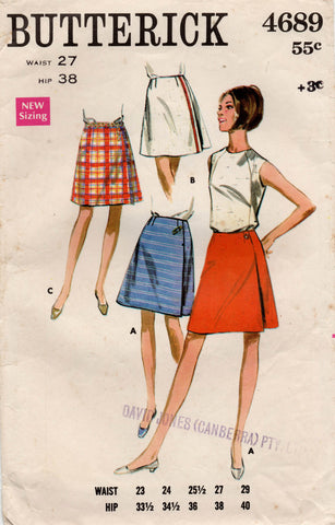butterick 4689 60s skirts