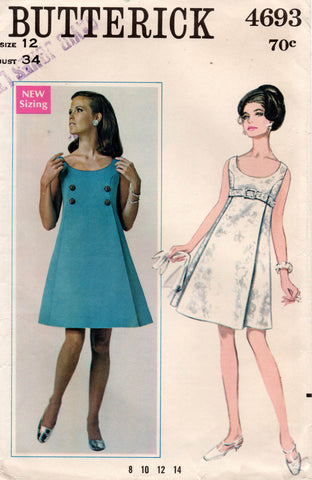 butterick 4693 60s dress