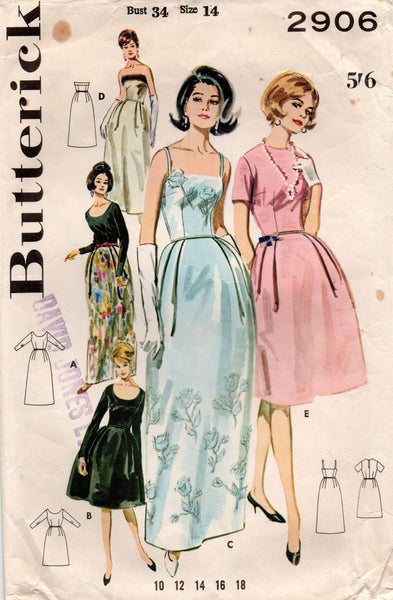 butterick 2906 60s dress