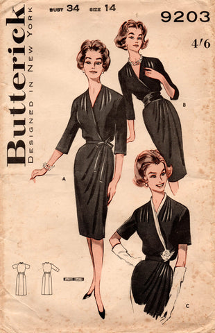 butterick 9203 60s dress