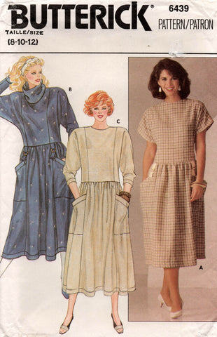butterick 6439 80s dress