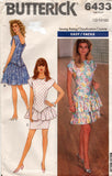 butterick 6433 80s dress