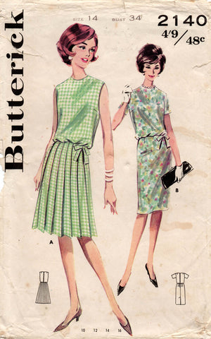 butterick 2140 60s dress