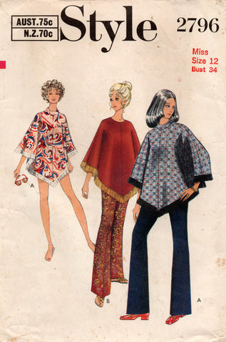 style 2796 70s poncho and pants