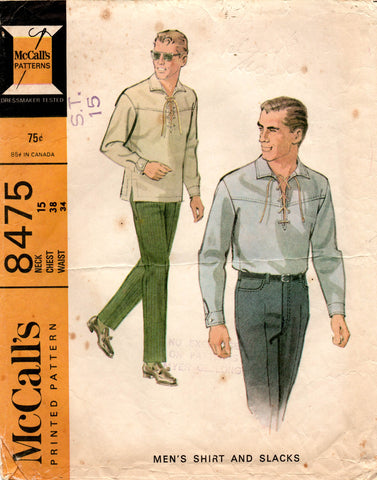 McCall's 8475 60s shirt and pants