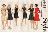 Style 4498 Womens Basic Fit & Flared Dress 1970s Vintage Sewing Pattern Size 16 UNCUT Factory Folded