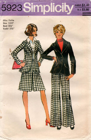 simplicity 5923 70s skirt pants jacket