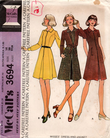 McCall's 3694 70s dress and jacket