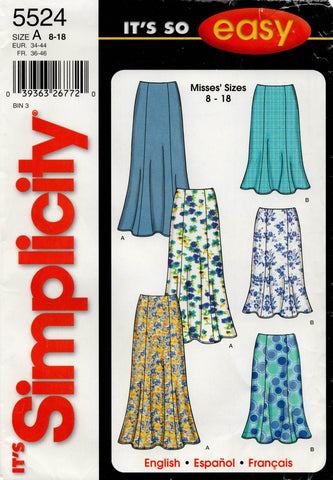 simplicity 5524 skirts