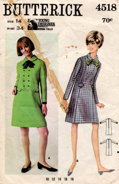 butterick 4518 60s dress