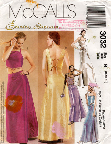 McCall's 3032 evening tops skirts